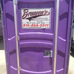 purple porta potty