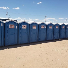line of porta potty units in el paso